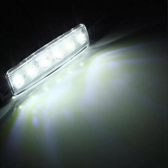 Lanterna 6 Led Lateral Carreta Viatura Carretinha Carro 12v