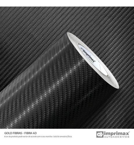 Imagem 1 de 5 de Adesivo Envelopamento Fibra Carbono 4d Preto 140x30cm