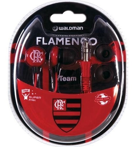 Fone De Ouvido Waldman Sf10 In-ear Time Flamengo