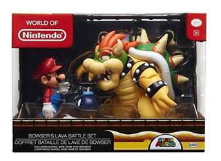 Super Mario Bowser Vs Mario Diorama Figura Acción Juguete