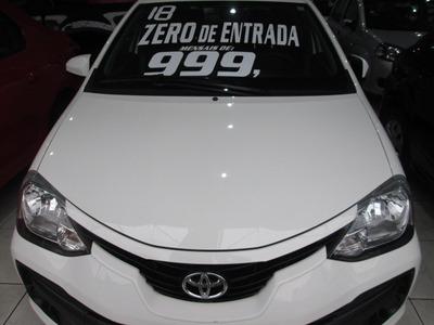 Toyota Etios 1.3x Flex Completo Mais Som Original Unico Dono