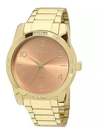 Relógio Condor Feminino Dourado/champagne Co2035kde/4l