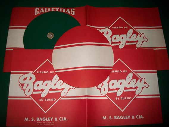 Bagley . Antiguo Envoltorio Para Lata Galletitas . Año 1940