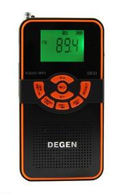 Rádio Receptor Degen De22 Fm Stéreo Mw Sw Dsp C/ Mp3 Player