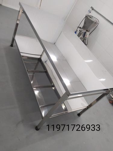 Imagem 1 de 5 de Mesa De Aço Inox