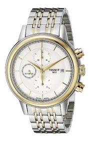 Relógio Tissot Carson Automatico Cronógrafo Prata/dourado