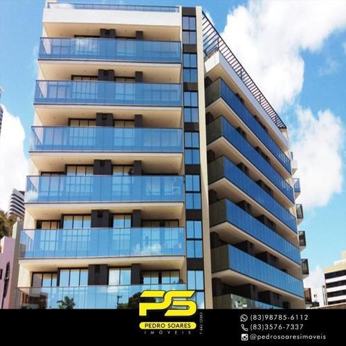 Apartamento Com 4 Dormitórios À Venda, 181 M² Por R$ 1.289.000,00 - Cabo Branco - João Pessoa/pb - Ap3834