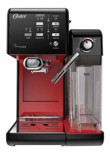 Imagen 1 de 3 de Cafetera Oster PrimaLatte BVSTEM6701 automática negra y roja para expreso y cápsulas monodosis 220V