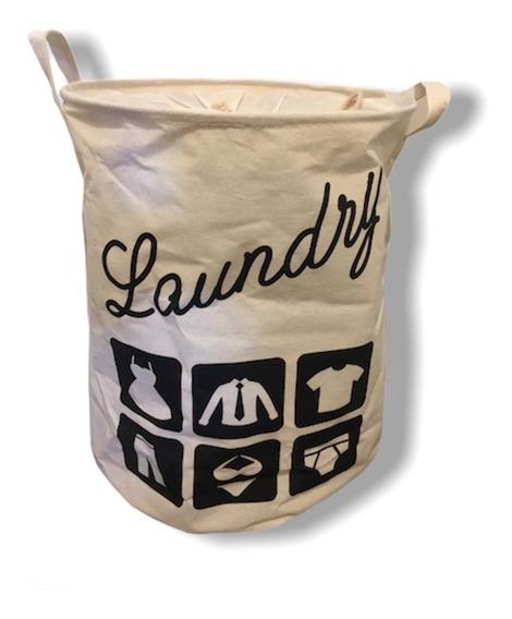 Cesto Laundry Tela Dura Para Ropa Sucia Con Cierre