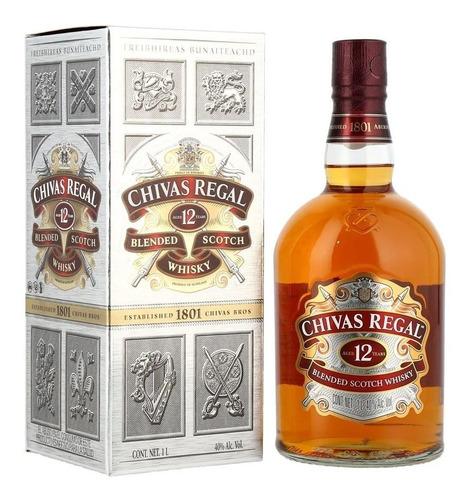 Imagen 1 de 1 de Whisky Chivas Regal 12 Anos De 1 Litro Venta Por Cajas