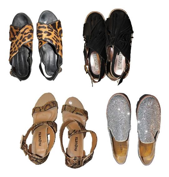 Lote Zapatos Zuecos Sandalias Usados 38 / 39 / 40 Envío