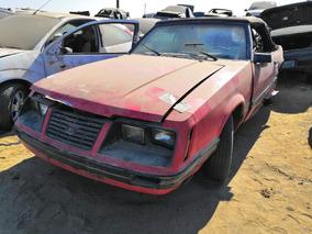 Mustang Convertible 85 Por Partes Refacciones Accesorios