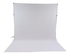 1 Tecido 3x6 Branco + Suporte Fundo Infinito Fotografia Foto