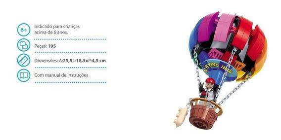 Brinquedo Blocos De Montar Com 195peças Cidade Balão