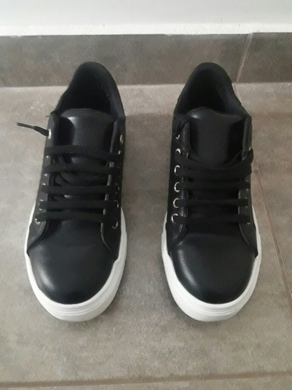 Zapatilla Sneaker Urbana 38 Negras