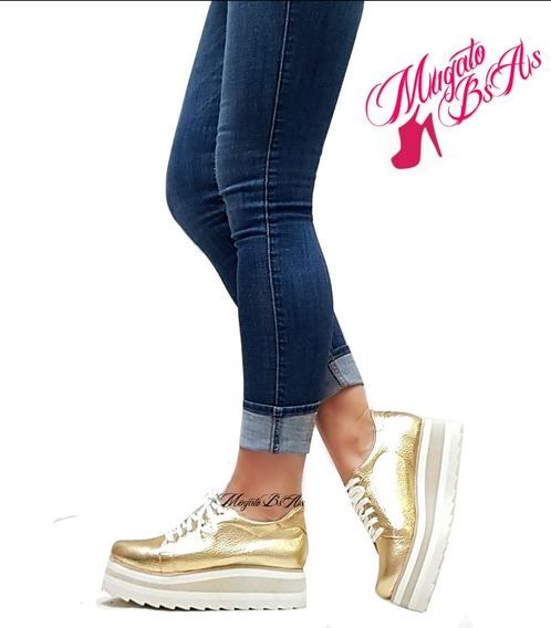 Zapatillas Sneakers Con Plataforma Goma Eva Art 425 Mugato
