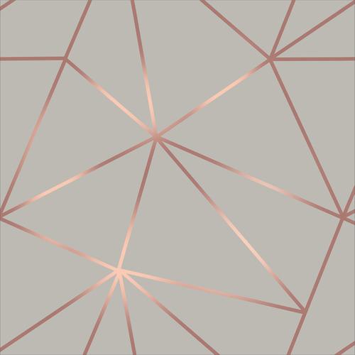 Imagem 1 de 10 de Papel De Parede Zara Cinza Rosê Dourado Para Sala Quarto 9m