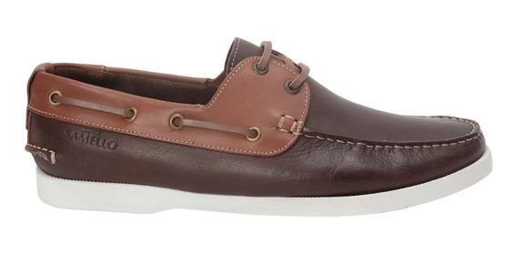 Sapato Masculino Samello Loop Smooth Couro Café Papaya