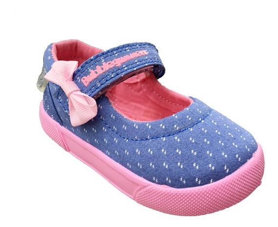 Zapato Tenis Para Niña Mezclilla/rosa Bubble Gummers Hada