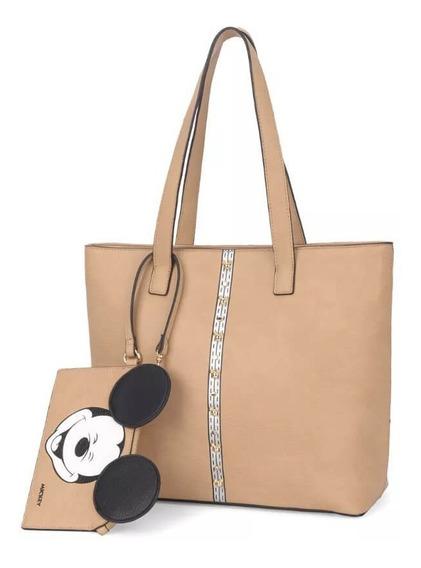 Bolsa Feminina Ombro Mickey Com Necessaire Bmk78367
