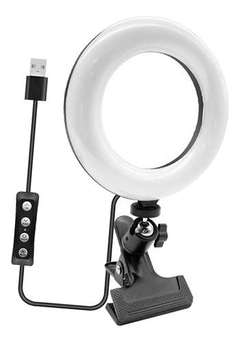 Imagem 1 de 12 de 6in Mini Vídeo Led Luz Conferência Iluminação Kit Clip Estil
