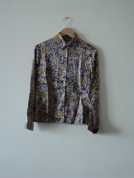 Camisa De Seda Estampada Importada. Robert Friedman