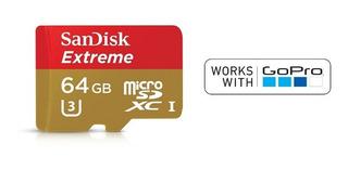 Micro Sd Sandisk Extreme De 64gb Graba 4k Uhd