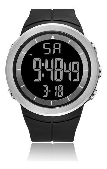 Relógio Masculino Ohsen Digital 1805 - Preto E Prata