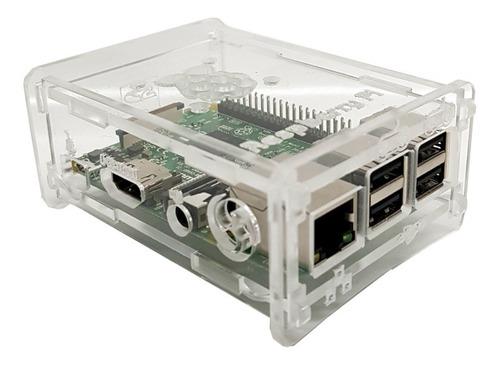 Imagem 1 de 4 de 2 Case Acrilico 3mm Raspberry Pi 2 Pi2 / Pi 3 Pi3 Model B