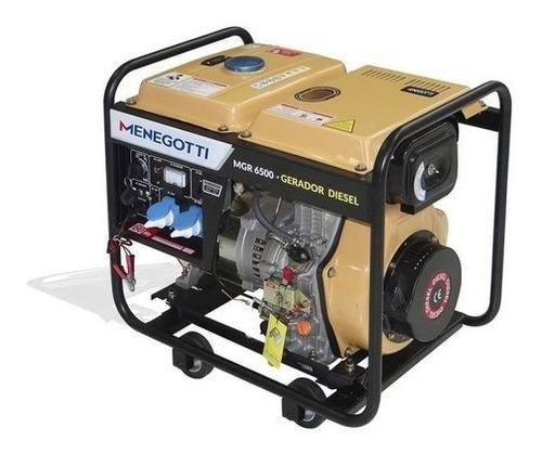 Gerador Portátil Mgr7300 7300w Mono Motor A Gasolina 15hp