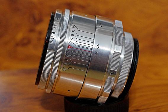 Helios 44 58mm 2,0 M42 - 13 Lâminas Preset