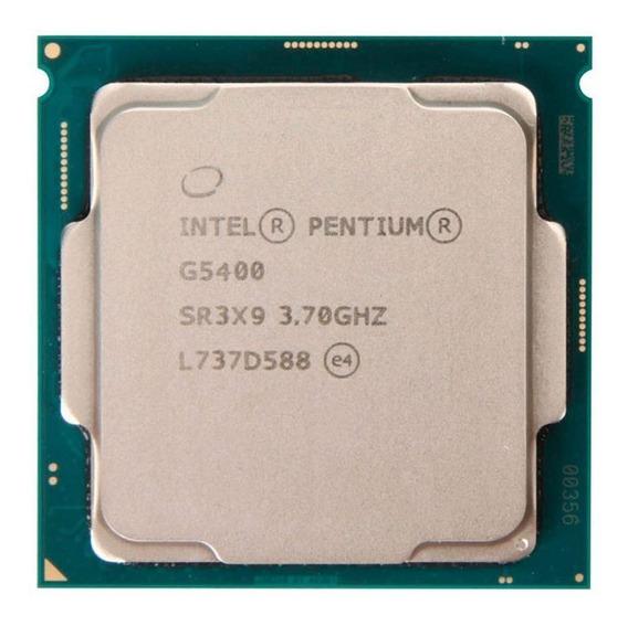 Processador gamer Intel Pentium Gold G5400 BX80684G5400 de 2 núcleos e 3.7GHz de frequência com gráfica integrada