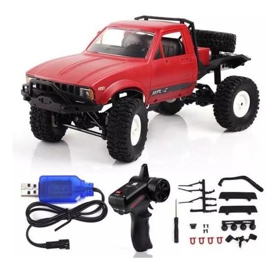 Caminhão Wpl C-14 Vermelho 1:16 Buggy Recarregavel Rc Car