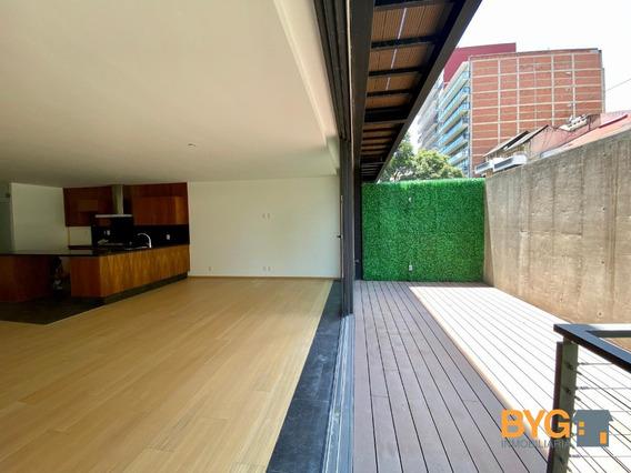 Garden House En Polanco A Estrenar Con Terraza Grande. Factura.
