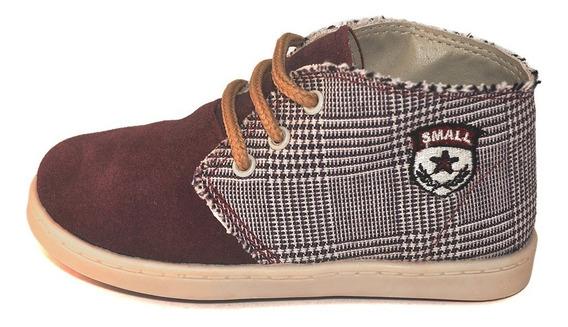 Bota Gamuza Combinada Small Shoes 2 Variantes