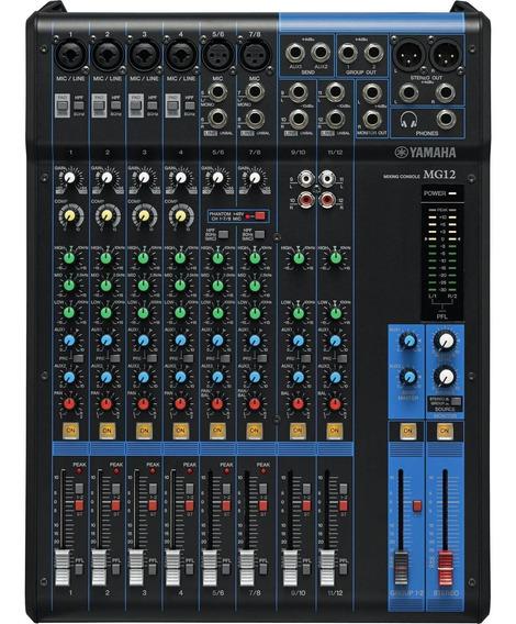 Mesa De Som Analógica 12 Canais Mg12 Preta Yamaha