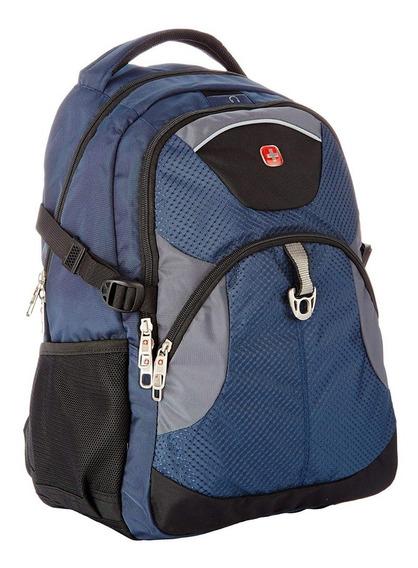 Mochila Swiss Gear 15´´ Azul C/ Negro Laptop / Tablet Safe