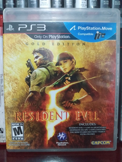 Resident 5 Gold Edition Ps3 Completo Parcelamento Sem Juros