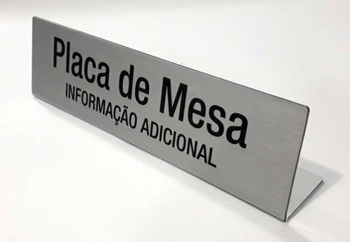 01 Placa De Mesa Reunião Jurado Personalizada Pvc 2mm