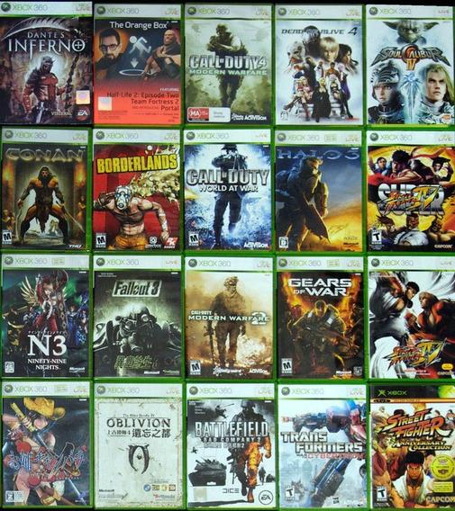 5 X Jogos Xbox 360 Games Midia Fisica Original Usados