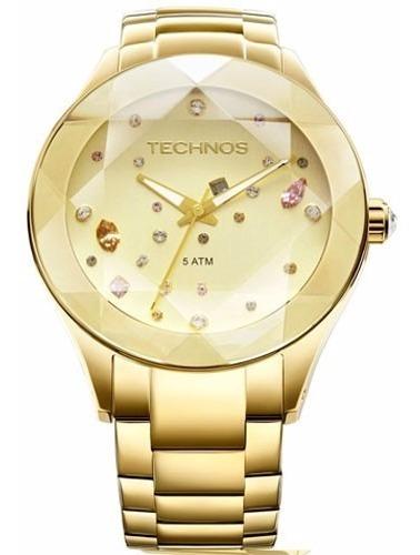 Relógio Technos Feminino Dourado Swarovski 2039atdtm/4x