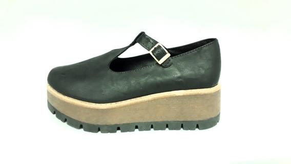 Calzado Zapato Guillermina Plataforma Dama Negro 37 Al 40
