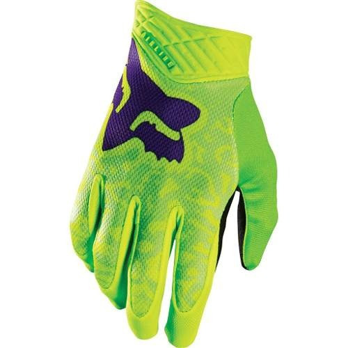 Guantes Fox Dirtpaw Airline Verde Talle M - Racer Bikes