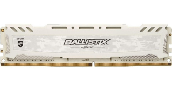 Memória Micron Ballistix Sport White 8gb Ddr4 3000mhz 1x8gb
