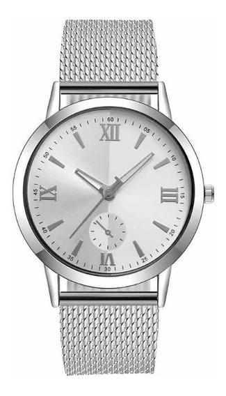 Relógio Feminino Barato Pulseira De Plástico Prata