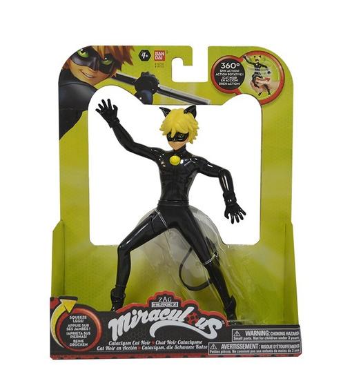 Figura Miraculous Cat Noir Em Ação 20 Cm Sunny