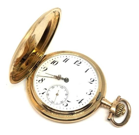 Relógio De Bolso Omega Em Ouro 14k - Estilo Luis Xv