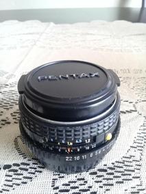 Lente Pentax Smc - M 1:2 50 Mm Analógica + Adaptador Chip