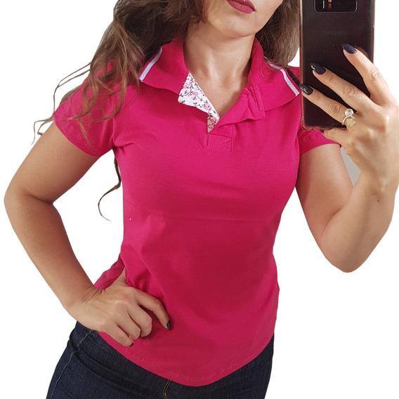 Blusa Feminina Gola Polo Baby Look Camiseta Promoção T-shirt
