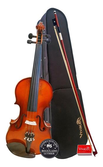 Violino 4/4 Vivace Be44 Com Arco + Estojo + Breu Oferta!